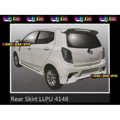 LLPU4148 Perodua Axia 2014 SE Advance PU Rear Skirt (Sportivo)