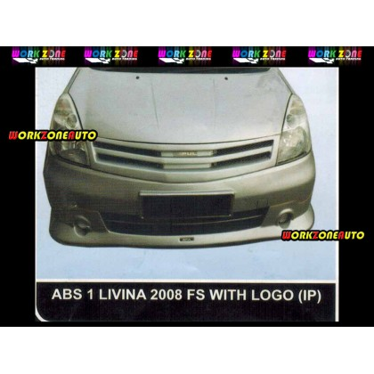 ABS1 Nissan Livina 2008 ABS Front Skirt With Logo (Impul)