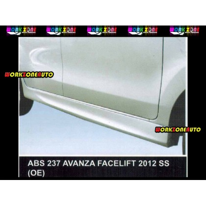 ABS237 Toyota Avanza 2012 Facelift ABS Side Skirt (OE)