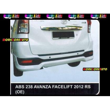 AF87 Toyota Avanza Facelift 2012 OE ABS Bodykit Fullset (ABS236,ABS237,ABS238)