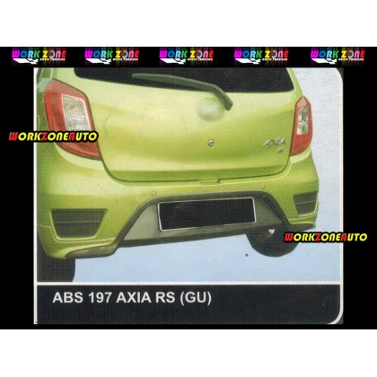 AF89 Perodua Axia Facelift 2017 G-Spec Gear Up ABS Bodykit Fullset (ABS242,ABS196,ABS197)