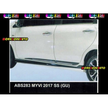 ABS283 Perodua Myvi 2018 ABS Side Skirt (GU)