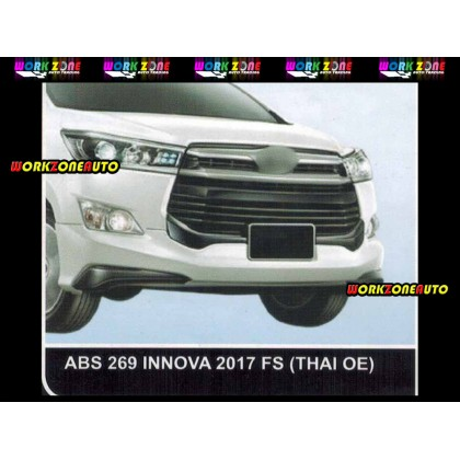 AF96 Toyota Innova 2017 Thai OE Bodykit ABS Fullset Rear Skirt With Sticker (ABS269,ABS270,ABS271)
