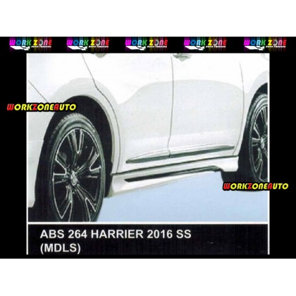 ABS264 Toyota Harrier 2016 ABS Side Skirt (MDLS)