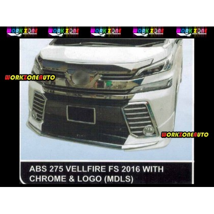 AF95 Toyota Vellfire 2016 MDLS ABS Bodykit Fullset with Chrome & Logo &Exhaust (ABS275,ABS276,ABS27)
