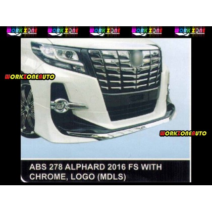 AF94 Toyota Alphard 2016 MDLS ABS Bodykit Fullset with Chrome & Logo &Exhaust (ABS278,ABS276,ABS277)